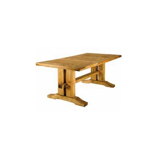 table poutre bois massif monast re. Black Bedroom Furniture Sets. Home Design Ideas