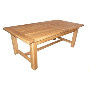 Table ferme avec allonges bois massif terroir for Table 120x80