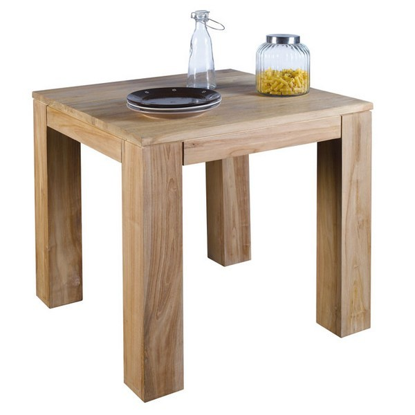 Table carr e 80 x 80 born o casita - Table carree extensible bois ...
