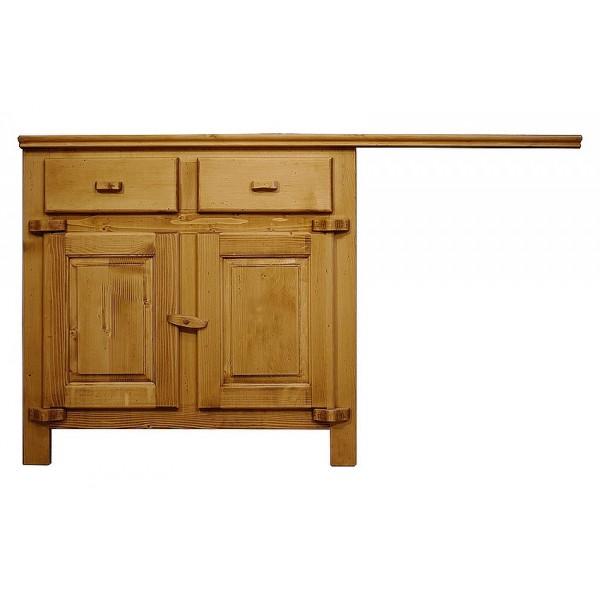 Element bas deux portes emplacement evier lave vaisselle bois massif for Portes elements cuisine