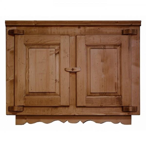 Element haut cuisine bois deux portes for Element cuisine bois