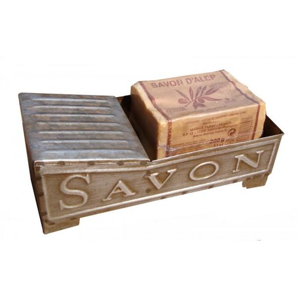 Porte savon metal antic line for Porte savon encastrable