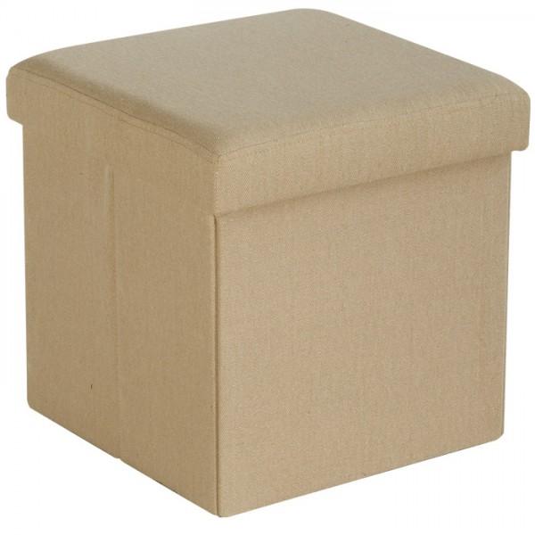pouf pliant tissu folding sofacasa beige. Black Bedroom Furniture Sets. Home Design Ideas