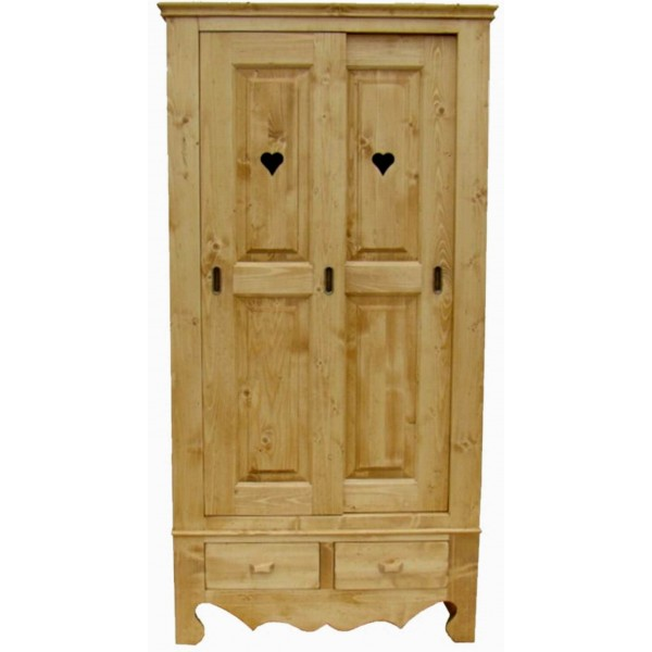 armoire bois massif portes coulissantes. Black Bedroom Furniture Sets. Home Design Ideas