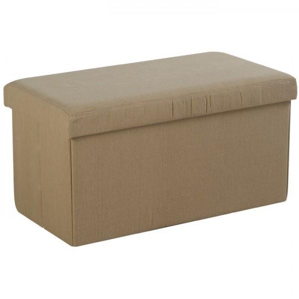 banc coffre pouf tissu sofacasa. Black Bedroom Furniture Sets. Home Design Ideas