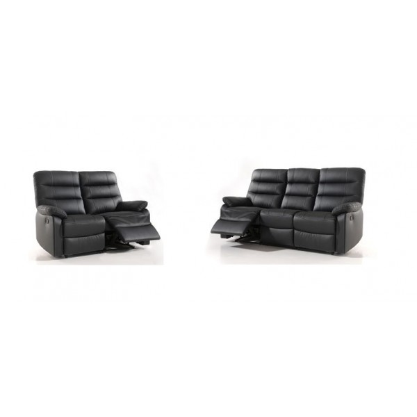 Salon complet relax cuir rima conforluxe for Acheter salon complet