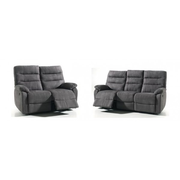 salon 3 2 cameo relax electrique conforluxe. Black Bedroom Furniture Sets. Home Design Ideas