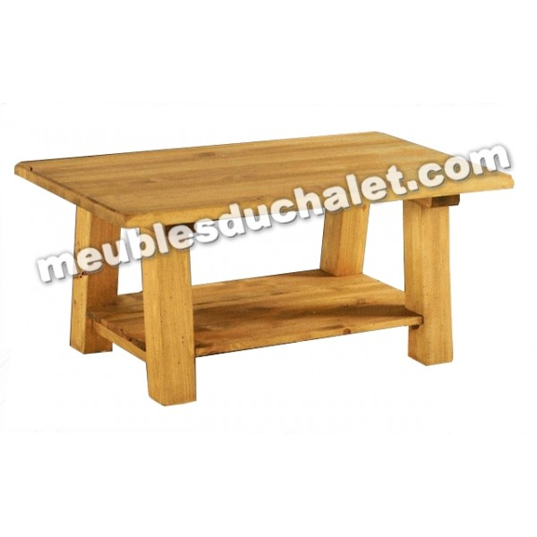 Table basse double plateau brunswick casita - Table pliante rectangulaire double plateaux ...