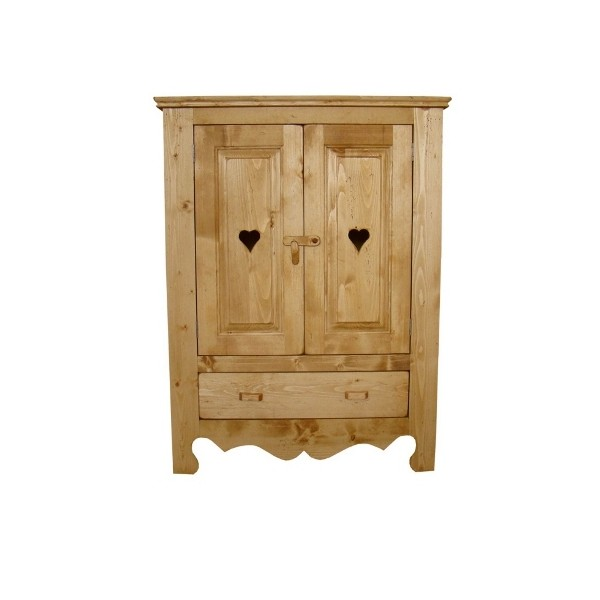armoire chaussures 2 portes 1 tiroir c ur de montagne. Black Bedroom Furniture Sets. Home Design Ideas