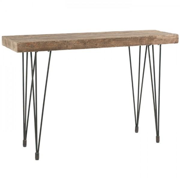 console vieux bois massif et fer vieilli motown casita. Black Bedroom Furniture Sets. Home Design Ideas