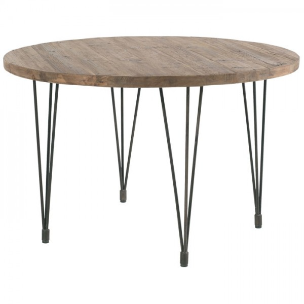 table ronde 120 pin recycl motown casita
