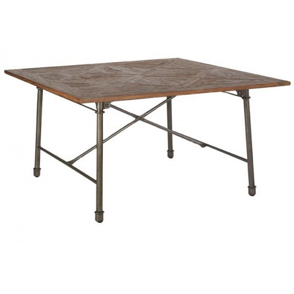 table carr e 140 x 140 cm industrie casita