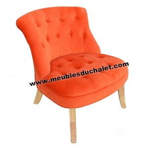 FAUTEUIL HARRY SOFACASA TEINTE ORANGE
