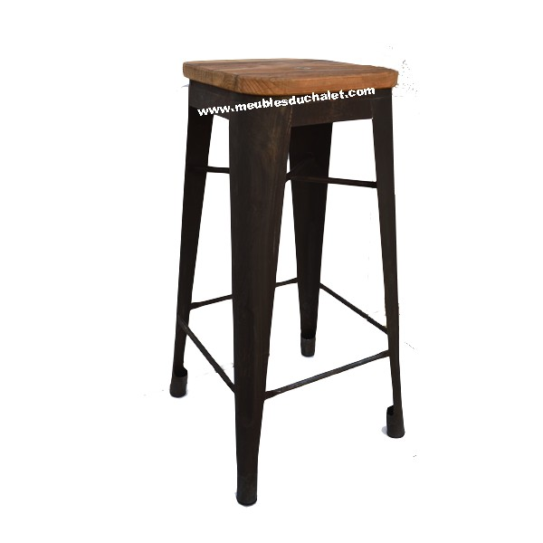tabouret de bar motown de chez casita les meubles du chalet. Black Bedroom Furniture Sets. Home Design Ideas