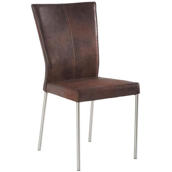 chaise microfibre et pieds inox les meubles du chalet