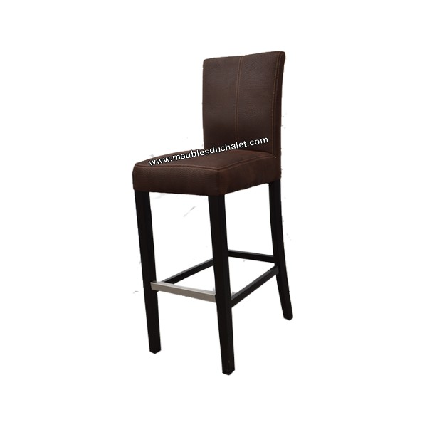 chaise haute tissu marron casita les meubles du chalet. Black Bedroom Furniture Sets. Home Design Ideas