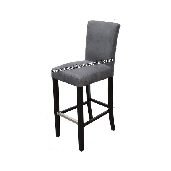 chaise de bar gris tabouret bar design assise simili cuir. Black Bedroom Furniture Sets. Home Design Ideas