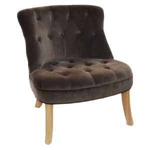 FAUTEUIL MARRON GLACE HARRY SOFACASA