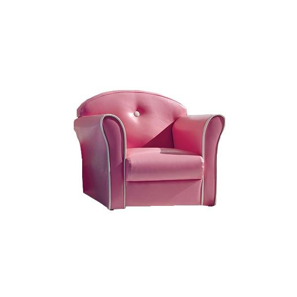 Fauteuil enfant sixties rose sofacasa les meubles du chalet - Fauteuil rose enfant ...