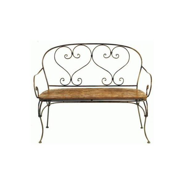 banquette bois et fer lucy casita. Black Bedroom Furniture Sets. Home Design Ideas