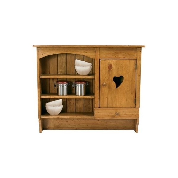 etagere murale porte coeur bois massif. Black Bedroom Furniture Sets. Home Design Ideas