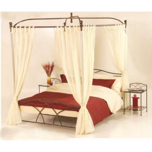 lit a baldaquin tina fer forge 140 x 190 les meubles du chalet. Black Bedroom Furniture Sets. Home Design Ideas