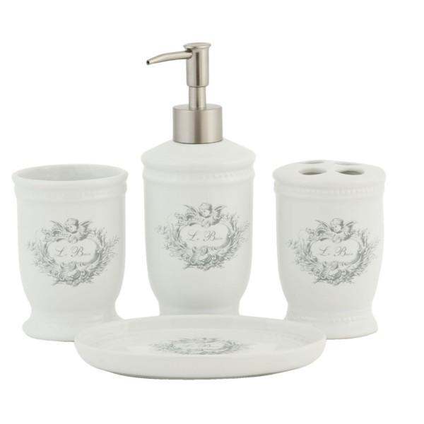 Set bain porte savon ceramique for Set porte savon
