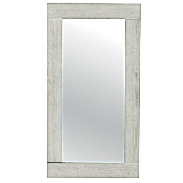 Miroir kendall 150 x 80 pin massif lasure blanc casita for Miroir 90 x 150