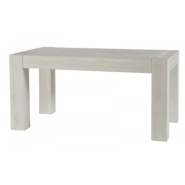 Table rectangulaire 160 avec allonge kendall casita for Table rectangulaire bois avec allonges