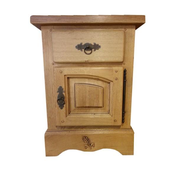 chevet ardeche chene massif porte droite les meubles du. Black Bedroom Furniture Sets. Home Design Ideas
