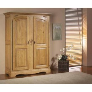 armoire ardeche chene massif 2 portes les meubles du chalet. Black Bedroom Furniture Sets. Home Design Ideas