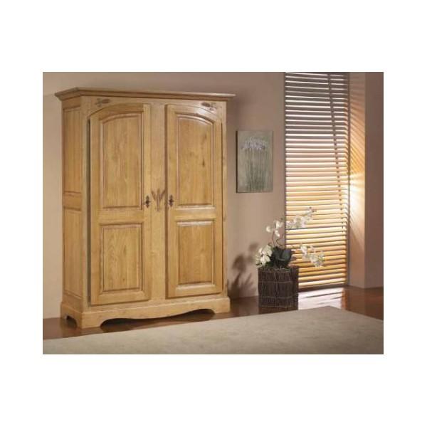 armoire ardeche chene massif 2 portes les meubles du chalet. Black Bedroom Furniture Sets. Home Design Ideas