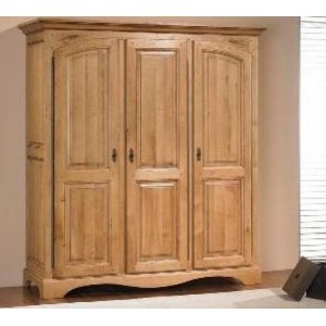 armoire ardeche chene massif 3 portes les meubles du chalet. Black Bedroom Furniture Sets. Home Design Ideas