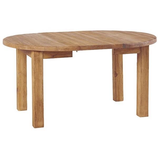 Table ronde allonge centrale cottage casita for Table ronde allonge