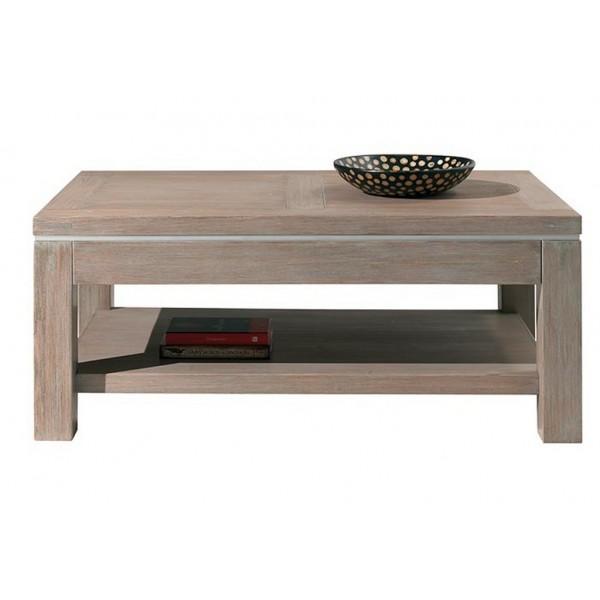Table de salon double plateau west casita for Table basse double plateau