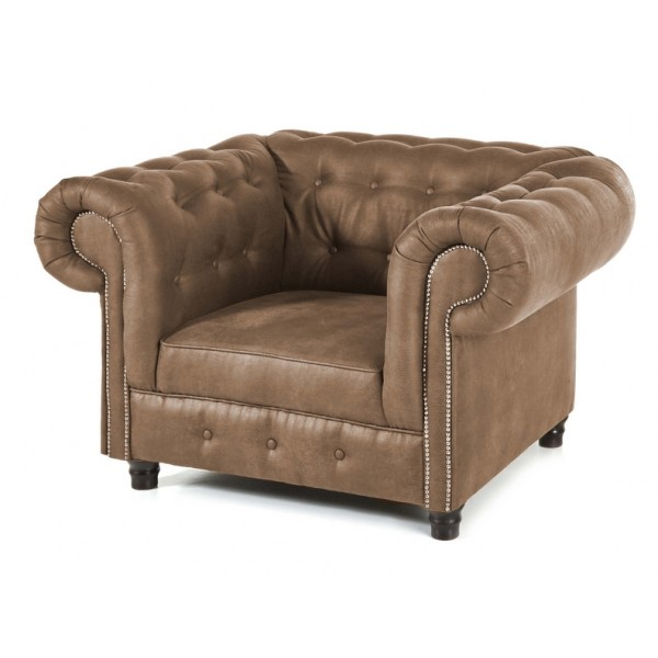 fauteuil chesterfield milwaukee taupe. Black Bedroom Furniture Sets. Home Design Ideas