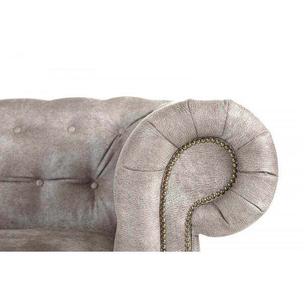 fauteuil chesterfield rev tement beige. Black Bedroom Furniture Sets. Home Design Ideas