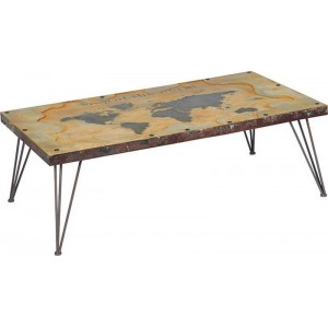 Table basse mappemonde en 1m40-World Casita