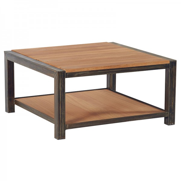 Table basse carr e 2 plateaux scott casita - Table basse carree ...