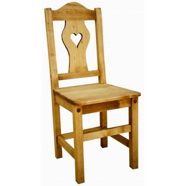 lot de 6 chaises coeur de montagne. Black Bedroom Furniture Sets. Home Design Ideas