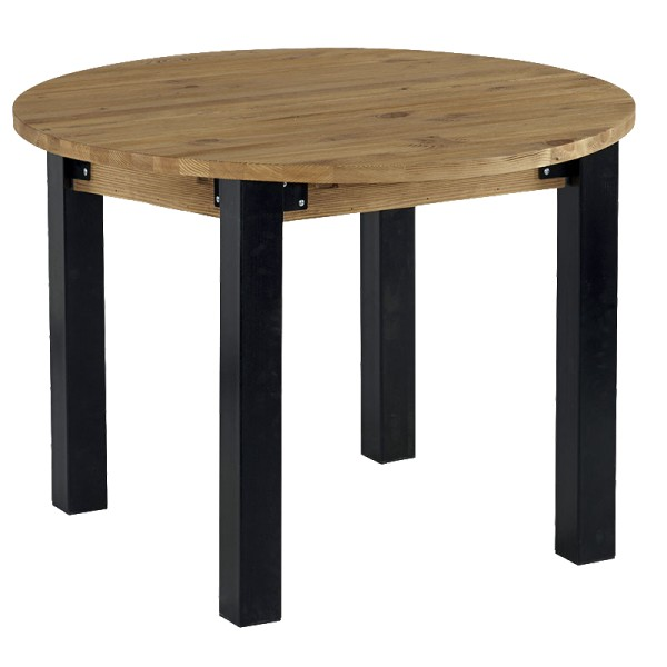 Table ronde avec allonge lugano casita - Table ronde avec allonges ...