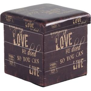 Pouf carré pliant Love - Sofacasa