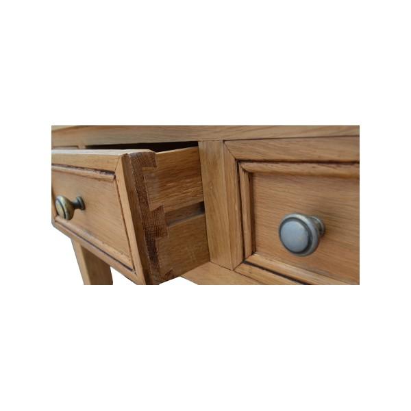 Bureau chne 3 tiroirs Coin de Campagne