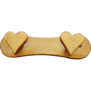 Porte manteaux équipé de 2 patères en forme de coeur
