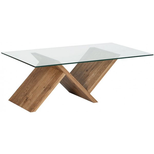 Table basse plateau verre tremp harvey casita - Table plateau verre trempe ...