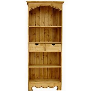 Bibliothèque 2 tiroirs 2 étagères - Cœur de Montagne