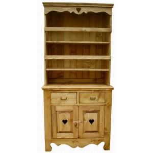 Vaisselier 2 portes 2 tiroirs 2 étagères - Cœur de Montagne