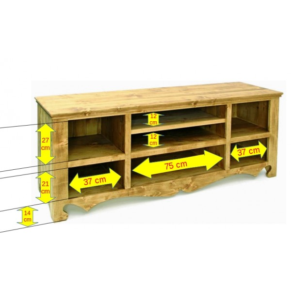 meuble tv 7 niches coeur de montagne. Black Bedroom Furniture Sets. Home Design Ideas