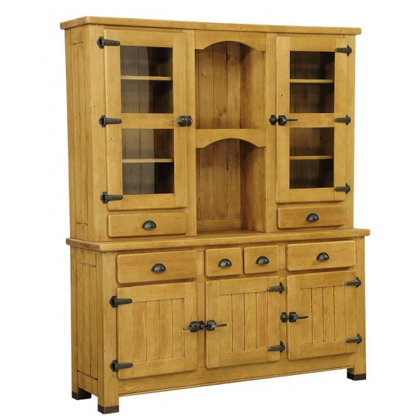 vaisselier vitr 5 portes 6 tiroirs 2 niches charolles. Black Bedroom Furniture Sets. Home Design Ideas