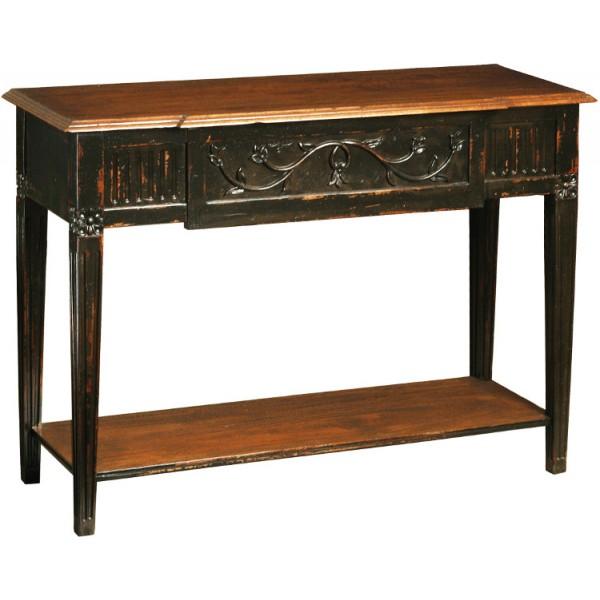 console noire vieillie patine antiquaire. Black Bedroom Furniture Sets. Home Design Ideas